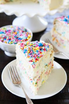 Funfetti Cake #delicious #diy #Easy #food #love #recipe #tutorial #yummy Make sure to follow cause we post alot of food recipes and DIY we post Food and drinks gifts animals and pets and sometimes art and of course Diy and crafts films music garden hair and beauty and make up health and fitness and yes we do post women's fashion sometimes and even wedding ideas travel and sport science and nature products and photography outdoors and indoors men's fashion too postersand illustration funny…