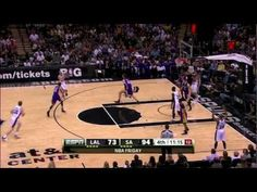 """Ginobili """"Pass of The Year"""" to Bonner Missile Pass LAL-SA 2012"""