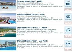 Charter Antalya: -25% Reducere la Resorturile Sensimar si Sherwood