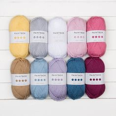 NEW SHADES --> Paintbox Yarns Simply Chunky 10 Ball Colour Pack Prism Neon Yellow (358), Daffodil Yellow (321), Mandarin Orange (317), Tomato Red (312), Lipstick Pink (351), Royal Blue (340), Sky Blue (338), Stormy Grey (304), Vanilla Cream (307), Pistachio Green (324) Hurricane Pure Black (301), Dark Aubergine (348), Raspberry Pink (343), Neon Pink (356), Misty Grey (303), Banana Cream (320), Bubblegum Pink (350), Dusty Rose (341), Duck Egg Blue (335), Midnight Blue (337) Wildflowers…