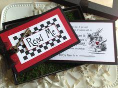 Alice in Wonderland Invitation  Wedding Birthday by PinkCherryMama