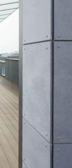 Facade corner detail. EQUITONE facade materials. equitone.com
