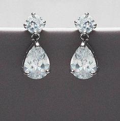 Brilliant Cut Peardrop Crystal Earrings from notonthehighstreet.com