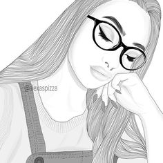 Image about girl in Outlines by on We Heart It Tumblr Girl Drawing, Tumblr Sketches, Tumblr Drawings, Bff Drawings, Girl Drawing Sketches, Cool Art Drawings, Tumblr Outline, Outline Art, Outline Drawings