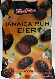 """""""Schluckwerder Jamaica-Rum Eggs"""" are delicious rum balls rolled in chocolate sprinkles and with genuine Jamaica rum flavor.Store cool and dry. Milka Chocolate, Chocolate Sprinkles, Easter Chocolate, Maggi Sauce, Dumpling Filling, Fruit Gums, Rum Balls, Dumplings For Soup, Cream Soup"""