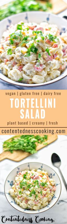 Fresh and creamy this Aioli Tortellini Salad is perfect dish for getting spring and summer vibes up. It is super easy to make packed with so many delicious flavors, entirely vegan and gluten free.
