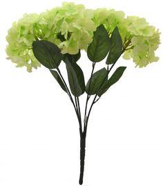 Artificial Polyester Hydrangea Bouquet (24 cm x 24 cm x 54cm, green)