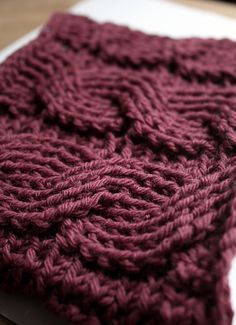 A beautiful Free Cable Crochet pattern - time to take my crochet to the next level.. I imagine with some minor modifying, this would make a scarf.