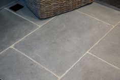 Soft greys feature in this subtly finished limestone with a soft, hand-aged surface. Lovely both inside or out. Flagstone Flooring, Limestone Flooring, Natural Stone Flooring, Tiled Hallway, Hallway Flooring, Kitchen Tiles, Kitchen Flooring, Flooring Options, Grey Stone