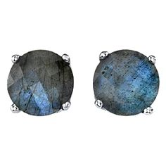 Suzanne Felsen 'Sterling Stud Earrings with Checkerboard Cut Labradorite' $275