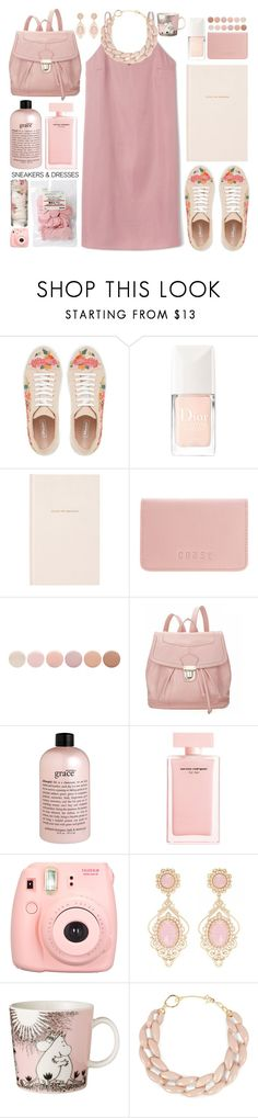 """// simply spring //"" by sinesnsingularities ❤ liked on Polyvore featuring Christian Dior, Kate Spade, Coast, Deborah Lippmann, 19th Street, philosophy, Narciso Rodriguez, Polaroid, Arabia and DIANA BROUSSARD"