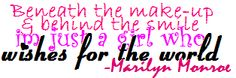 Marilyn Monroe Quotes | Girlie Myspace Quote Graphics - Myspace Quotes