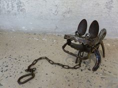 Mini Chopper Dog! Chris Hartshorn's tiny assemblage of found objects can help guard the gallery with Herc the gallery dog! http://tjg.com.au/chris-hartshorn.html