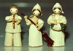 cornhusk dolls: I have some of these that my great grandmother made. We use them as Christmas ornaments!
