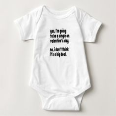 Single Baby Bodysuit - valentines day gifts love couple diy personalize for her for him girlfriend boyfriend