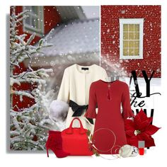 """Play in the snow"" by anna-survillo ❤ liked on Polyvore featuring Topshop, Givenchy, Chanel and Charbonnel et Walker"