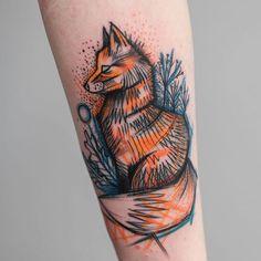 Fox tattoo by Ms. Kudu MsKudu sketchstyle sketch graphic fox