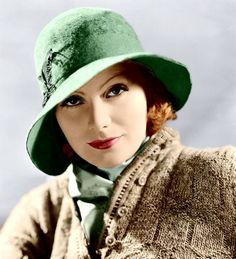 Greta Garbo's hat is exquisite. Vintage? Yes, but I would wear this chapeau right now!