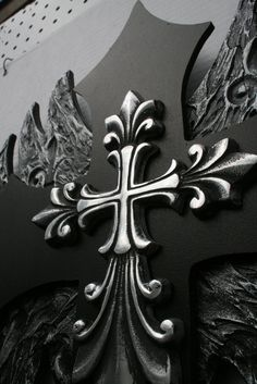 Angel Wing Cross withMaltese Pendant by davinciandvine on Etsy, $99.00