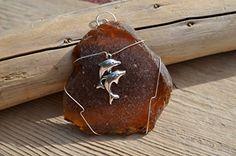 Large Amber Brown Sea Glass Ornament with a Dolphin Charm... http://www.amazon.com/dp/B00NT60B4C/ref=cm_sw_r_pi_dp_Onysxb1K1AYRF
