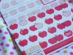 Cute apple stationary
