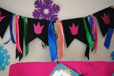FROZEN Party Fabric Banner Frozen Birthday Party by PSLetsParty, $32.00