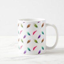 Brightly Colored Feathers Coffee Mug