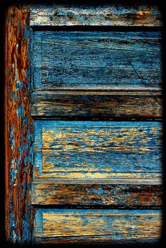 Texture, color, aging....why can't I appreciate my own physical aging process like I do this door? Surely I'm more beautiful than a door.....