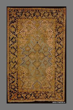 Made in century by Persia or possibly Isfahan. From the Jack and Belle Linsky Collection, Hand-Knotted, pile rug. Cost Of Carpet, Rugs On Carpet, Stair Carpet, Persian Carpet, Persian Rug, History Of Textile, Iranian Rugs, Tile Patterns, Carpet Runner