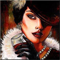 BURGSTALLER ORIGINAL XXL Acryl Gemälde Bild Painting Kunst Leinwand Gesicht PERC