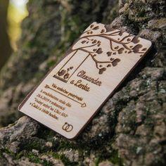 Svadobná magnetka - Pozvánka obdĺžnik Place Cards, Place Card Holders