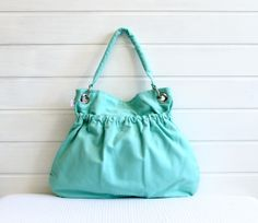 Aqua Tote Bag --- Aqua Taschen von BayanHippo auf DaWanda.com