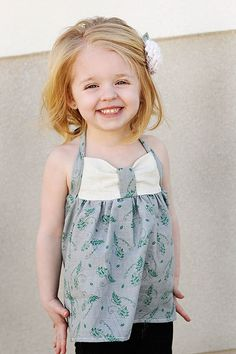 I found this on Etsy: Sweetheart Halter: Girls Halter Top PDF Pattern, Baby & Toddler Halter Top PDF S... $7.95 http://etsy.me/yGxCst