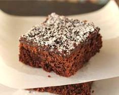 Baking a slice is a great way to enjoy a sweet treat. This easy chocolate slice combines coconut with a chocolate-y base and a delicious chocolate icing that is added while the slice is still warm. Chocolate Slice, Cooking Chocolate, Delicious Chocolate, Chocolate Icing, Sweet Recipes, Cake Recipes, Yummy Treats, Sweet Treats, Cake Stall