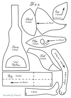 Fox doll pattern + step-by-step doll sewing tutorial. Doll making e-book PDF. Step-by-step guide. How to sew doll fox. Diy Doll Pattern, Doll Sewing Patterns, Cat Pattern, Sewing Toys, Clothing Patterns, Pdf Patterns, Free Pattern, Doll Making Tutorials, Sewing Tutorials