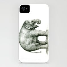 Baby Elephant (2) iPhone Case by S-Schukina - $35.00