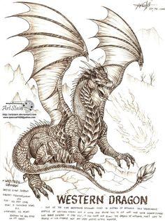 eastern dragon by artstain on DeviantArt Mystical Animals, Mythical Creatures Art, Mythological Creatures, Magical Creatures, Fantasy Creatures, Smaug Dragon, Dragon Art, Hybrid Art, Myths & Monsters