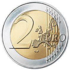 The Euro: 2002 Notes & Coins Introduced: €2 Coin Common Side - Old Style