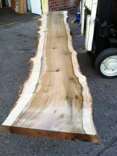 This curly poplar slab is 12 ft long!