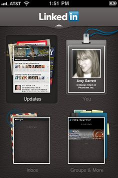 LinkedIn--> http://itunes.apple.com/us/app/linkedin/id288429040?mt=8