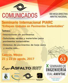 Enterate del Seminario Internacional PIARC este 21 y 22 de agosto en la ciudad de Cancún, México.