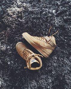 #hypefeet: Nike Air Force 1 High Wheat. Photo: @felixr__