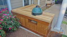 big green egg grill table plans