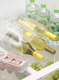 Clear Stackable Fridge Wine Holder