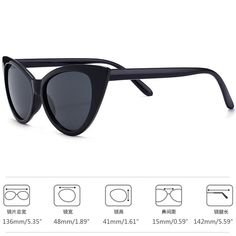 51a772e57f3ad Vintage Clout Goggles Cat Eye Sunglasses For Women UV 400 Protection Bold  Retro SunglassesResin Lens Plastic Thick Frame Mod Style Outdoor Fashion  Eyewear ...
