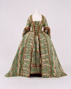 Dress, french ca 1770s (fabric is somewhat older than the actual dress ca 1760-65)