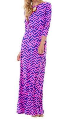 Lilly Pulitzer Nigella Boatneck Maxi Dress