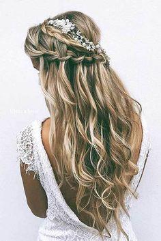 25 Elegant Half Updo Wedding Hairstyles - crazyforus