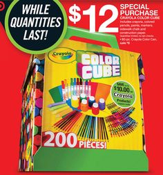 Black Friday Ads - Crayola Color Cube at Target sale $12