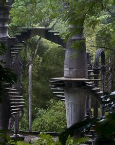 "hobbitology: "" voiceofnature: "" Amazingly surreal Las Pozas in the rainforest by Xilitla in the Mexico mountains. Created by Edward James in the 40′s, it includes more than 80 acres of natural..."
